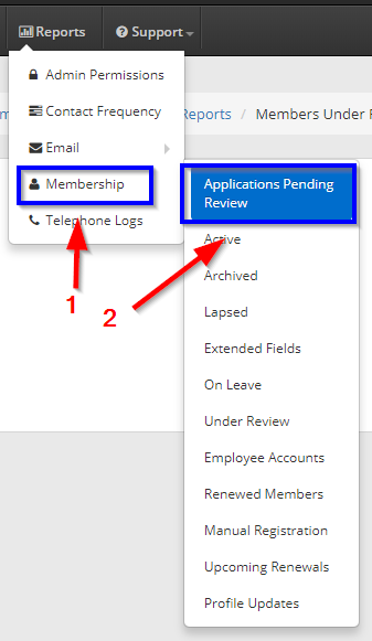 How to Manage Membership Applications – Support Member365