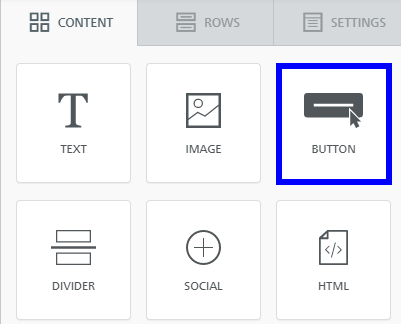 Image indicating the 'Button' option from the set of Content when building an Email Campaign.