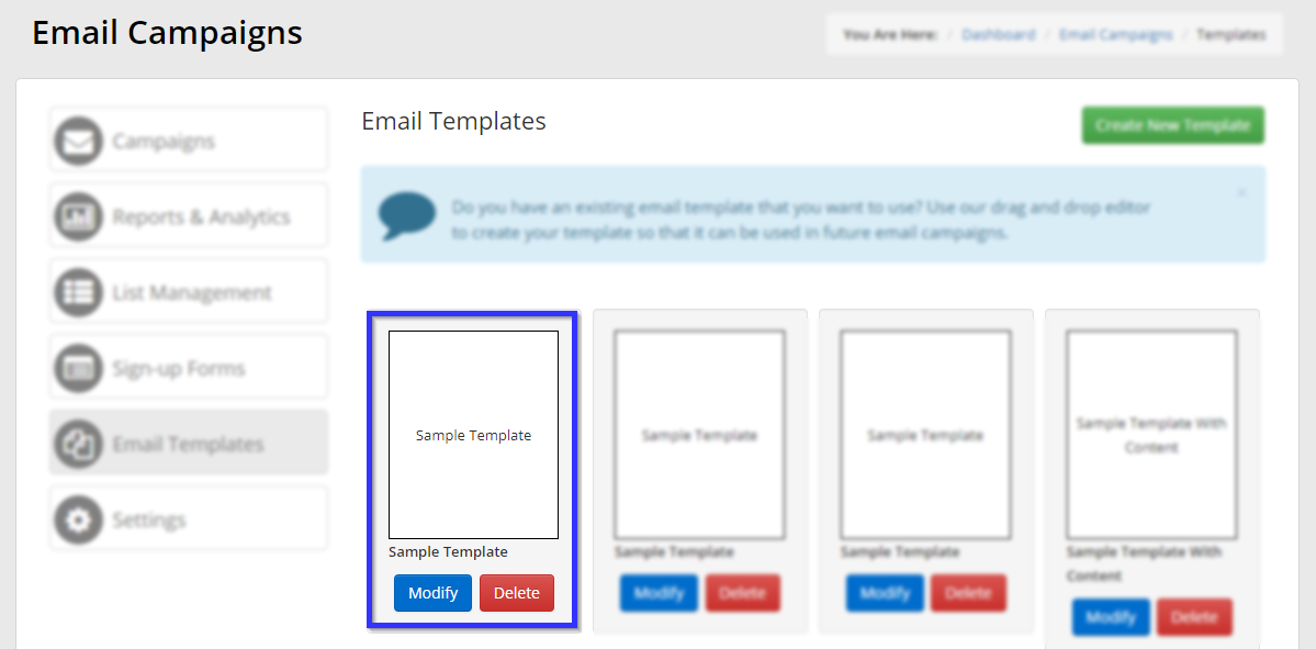 How To Edit An Email Template Or Email Campaign Support Member365