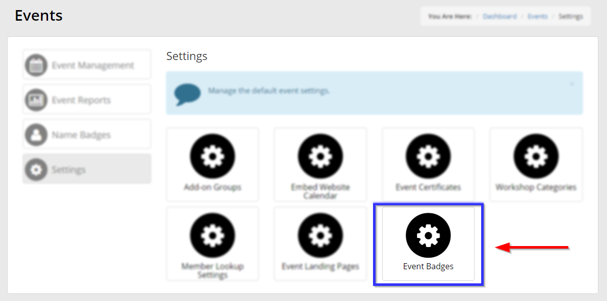 How To Preview And Choose Event Name Badge Templates Support Member365
