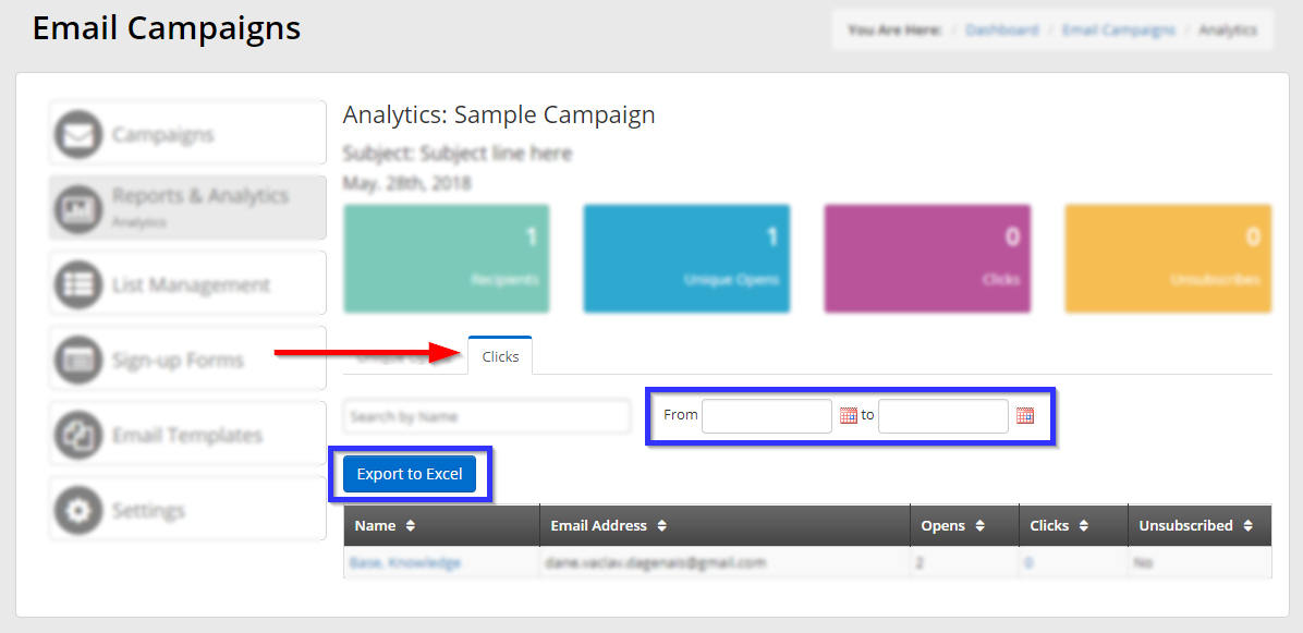 How to Export an Email Campaign Analytics Report – Support