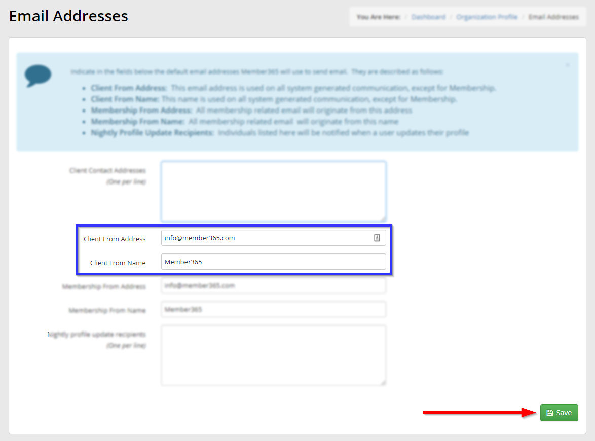 How to Change the Sender Email Address for Automatically Generated