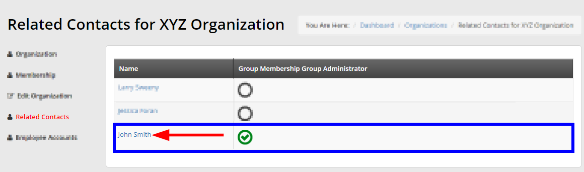 Imagine indicating an Organization's Primary Contact on the Related Contacts page for an Organization.