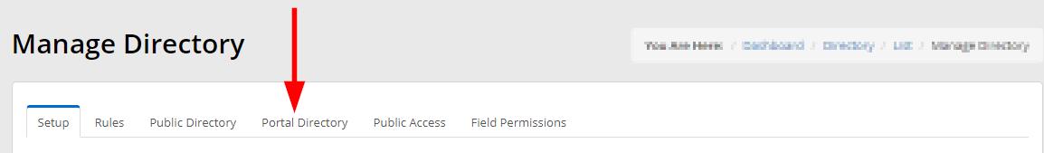 Image indicating the 'Portal Directory' tab.
