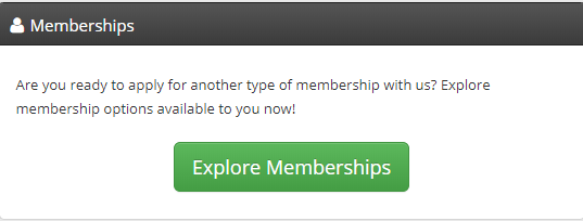 Image showing the Explore Memberships button.